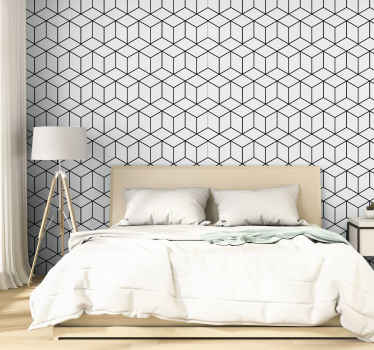 Look at this beautiful cubes square patterned vinyl wallpaper, you can certainly tell the elegance it would present your space with.