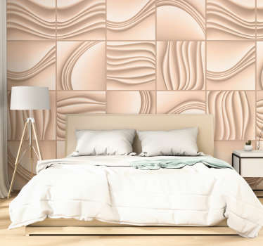 Textured pattern wallpaper that you can apply in the living room or bedroom. This design is very easy to apply and you can choose the size you prefer.