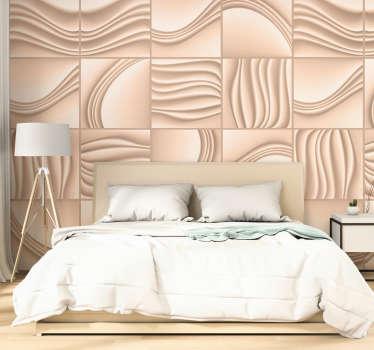 Strukturierte Mustertapete, die Sie im Wohnzimmer oder Schlafzimmer anwenden können. Dieser Entwurf ist sehr einfach anzuwenden und Sie können die Größe wählen.