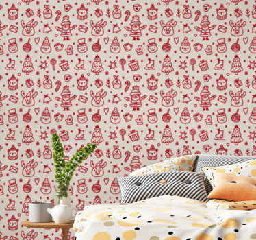 his can be your kid's bedroom Christmas wallpaper decoration, it also can be installed on any other room in a house and on other spaces.