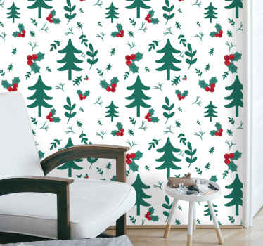 Beautiful Christmas pattern wallpaper for home and other space decoration for Christmas festivity. It is original and easy to apply.
