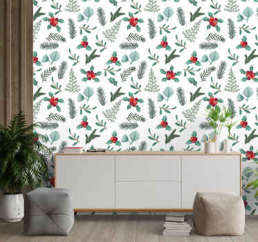 An amazing x-mas wallpaper that would make your space look lovely with an aura of happy Christmas festivity. Easy to apply and durable.