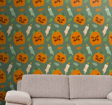 Pumpkins Halloween wallpaper to decorate your home space for Halloween festivity. The wallpaper is featured with different carved pumpkins.