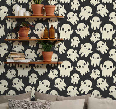 All of your friends and family will be so jealous of your brand new piece of decor with this awesome halloween ghosts wallpaper product! Order it now!