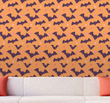What could be a better gift to give to yourself or someone you know than this lovely halloween bats wallpaper design? Buy this wonderful design now!