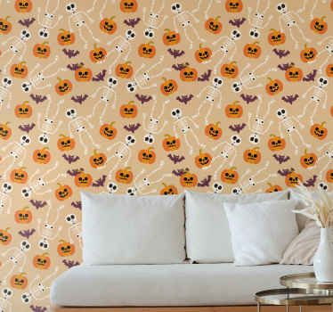 This cute halloween pumpkin wallpaper product will surely bring your room so much more light! Order this awesome product now!