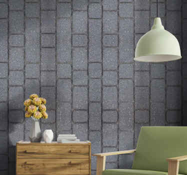 Realistic stone effect wallpaper decoration for any room in a house and for outdoor wall spaces. It is produced with quality material and durable.