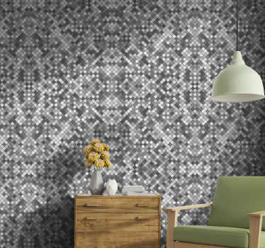 Grey oblong tile wallpaper for your home decoration, it also suit for an office and  the application is really easy. Easy to apply and durable.