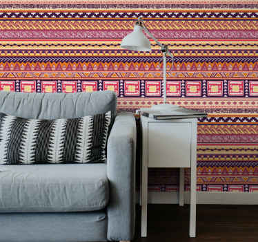 This brightly coloured tribal pattern Art Wallpaper will be perfect in any room of your house. Wide choice of high-end and trendy models.