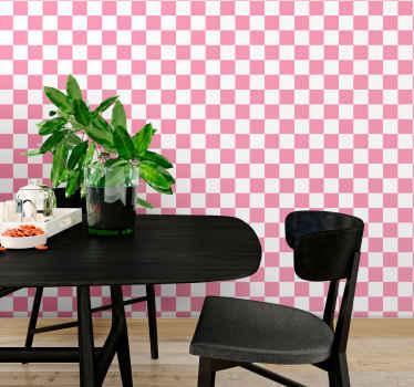 Fühlen Sie sich wie ein stern mit dieser erstaunlichen quadratischen Tapete aus rosa quadraten. Unsere geometrisch geformten Tapeten bestehen aus hochwertigem vinyl.