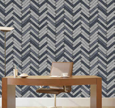 Grey chevron wood effect wallpaper for your home and other space decoration. This is suitable for any common and interior spaces.