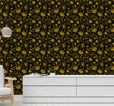 Beautiful and realistic flower textured wallpaper design. Perfect for any space, for living room, dinning, hallways, bedroom and for office, etc.