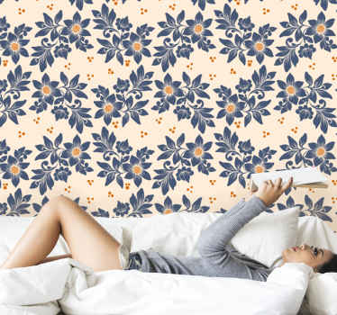 Classical luxury pattern Flowery wallpaper - A very soothing and elegant wallpaper design that would install luxury appearance on your space.