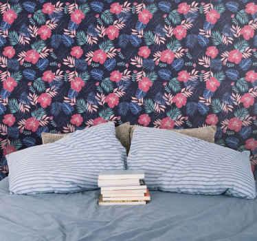 Carta da parati floreale con flora tropicale per portare alla tua casa il tocco di bellezza che merita. Questo può essere applicato in secondi.