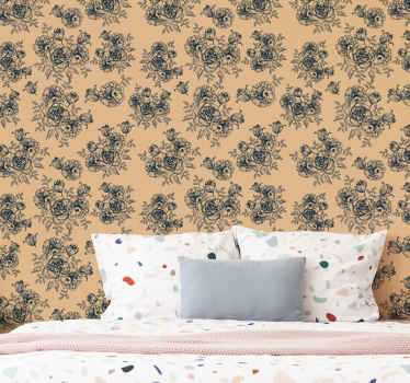 Vintage bouquet flowery wallpaper for your home and other space decoration. It is original, easy to install nd durable..