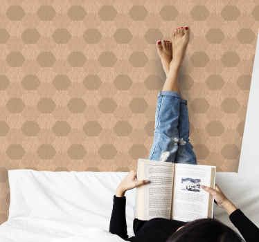 Hexagon wooden texture effect wallpaper - Perfect to decorate any wall space to present  lovely classic look.  Easy to apply, waterproof and durable.
