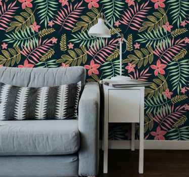 Beautiful ornamental wallpaper with leaves patterns in lovely colour. It is easy to install on wall with it accessories and removable with ease.