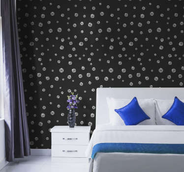 Textures geometric wallpaper for loving room designed on a black classy background. This design can be applied anywhere else you prefer.Easy to apply.