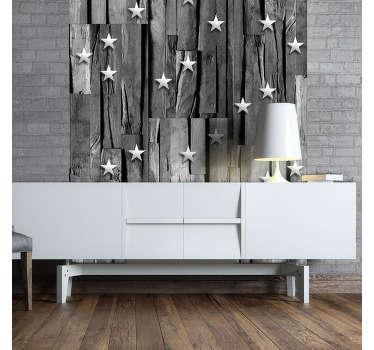 carta da parati texture su legno grigio