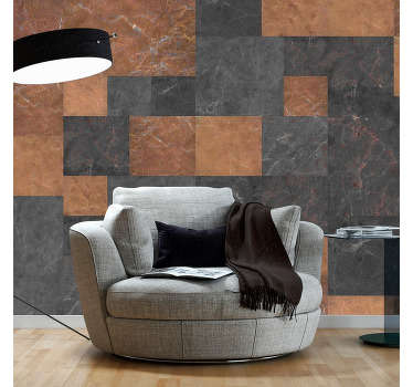 carta parati texture mosaico di marmo