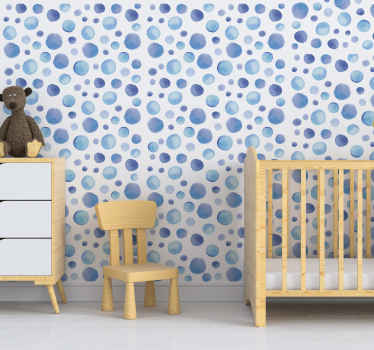 blue mole geometric patterned wallpaper for kids bedroom that you will love on the wall surface. This design will creates happy moment for your baby.