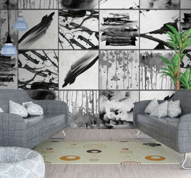 Show off to your friends and family just how cool and edgy you are with this awesome paint splatter grey wallpaper. Worldwide delivery!