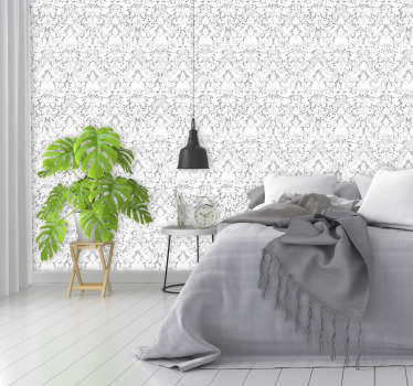 Are you looking for a classy decoration to your living room or a bedroom? Look no more, let us present this ornamental wallpaper.