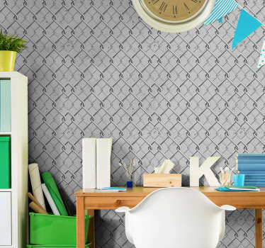 Patterned Grey Dining Room Wallpaper