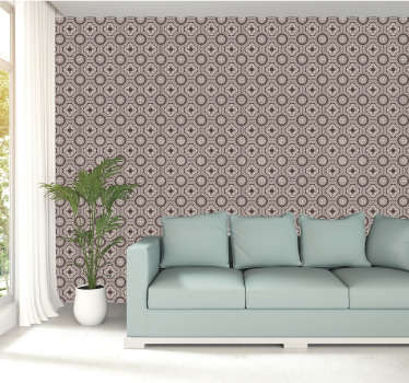Golden Pattern Tile Wallpaper