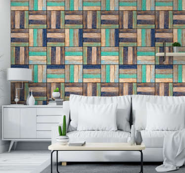 Wooden Pattern Textured Wallpaper