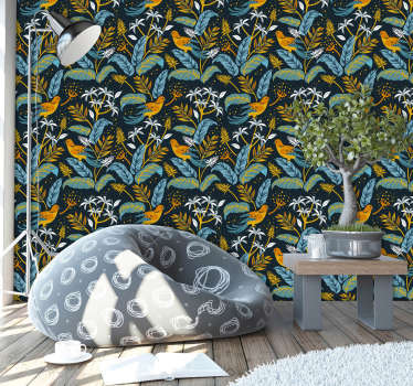 If you want your wall to take flight and become a wall of life and colour then this animal wallpaper will do exactly that for you!