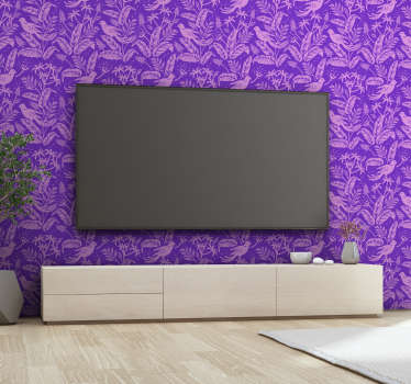 Add to the calm and tranquility of any room in your home with this beautiful and elegant purple birds 3D wallpaper. Free delivery available!