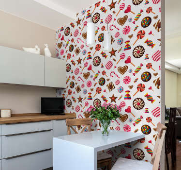 Chocolate Biscuit Assortment Kitchen Vinyl Wallpaper