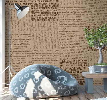 '' What We Believe' Letter grey patterned Wallpaper is all you need to to beautiful that wall surface at home. This is a design of many letters.