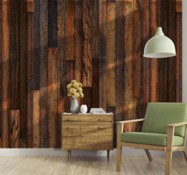 A stunning wood effect wallpaper for those looking for a unique, eye catching wallpaper in their home. The rich dark wood is perfect for you!