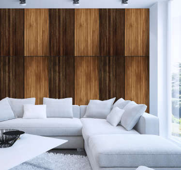 This vinyl wallpaper looking like piece of woods will suit perfectly in your house. This is a quick, inexpensive option to redecorate your rooms.