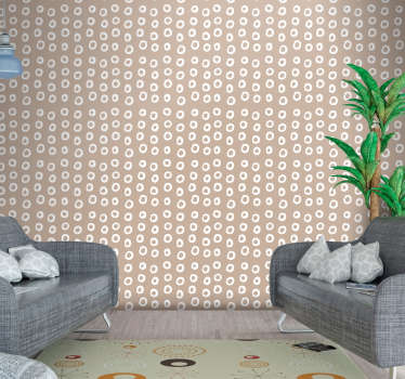 This stunning brown and white wallpaper is a great decoration to your bedroom. In a quick and easy way you will redecorate any interior you want.