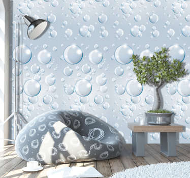 Make your living room or any other part of your home or business an extraordinary place with this abstract wallpaper with a pattern of bubbles.