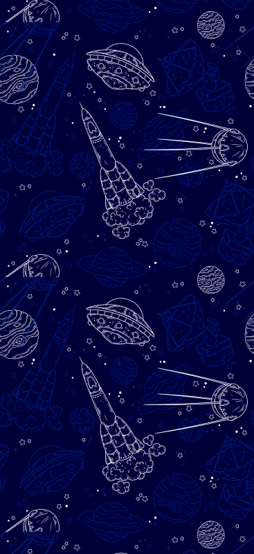 TenStickers. wallpaper space sketch Kids Wallpaper. Outer space has never looked so good than with your very own space sketch wallpaper! With over 10,000 satisfied customers.