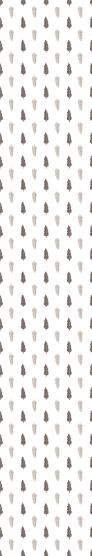 TenStickers. Parati classici Foglia marrone e bianca. Carta da parati con foglie che presenta un motivo di foglie in marrone chiaro e scuro. Le foglie sono su uno sfondo bianco. Scegli la tua taglia.