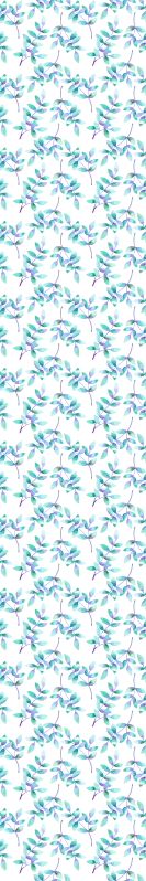 TenStickers. Flowers on light branches blue Floral Wallpaper. Floral wallpaper with white background and blue flowers is ideal to decorate any room you want to decorate in a bright and spacious way.