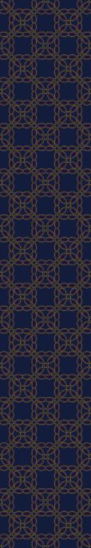 TenVinilo. Papel pared moderno patrón dorado y azul. Papel pared moderno azul de patrón de lujo para complementar una decoración más clásica. Es duradero, fácil de aplicar y resistente a la decoloración