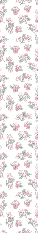 TenStickers. Shades of Pink Flower Nature Wallpaper. Flower wallpaper which features a pattern of bunches of flowers coloured in shades of pink. Easy to apply. High quality.