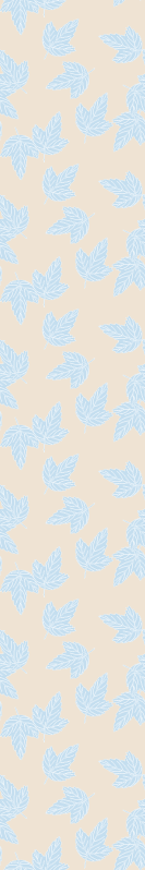 TenStickers. Blue and Brown leaves wallpaper. Leaf wallpaper which features a pattern of blue leaves on a light brown background. Sign up for 10% off. High quality materials.