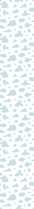 TenStickers. Açık mavi bulutlar çocuklar duvar kağıdı. Bu gökyüzü bulut duvar kağıdıyla bugün çocuğunuzu şaşırtın. Çocuğunuz kazara kirletirse, su ve normal sabunla kolayca yıkanabilir!