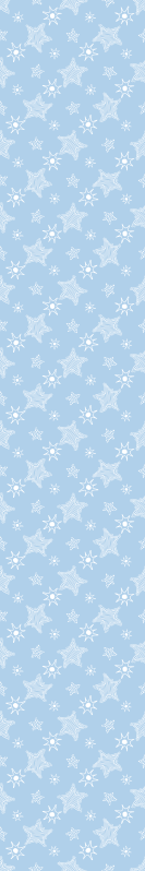 TenStickers. White and Blue Stars Wallpaper. Star wallpaper which features a pattern of white stars on a blue background. The stars are of different shapes and sizes.