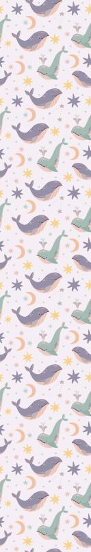 TenStickers. Gyerekek kék bálnák hűvös állat háttérkép. Gyönyörű bálna csillagos kiemelt háttérkép a gyermekek hálószobájában. Ez a háttérkép javítaná a gyerek megjelenését.