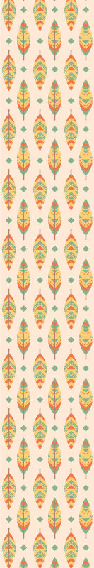 TenStickers. Multicolor feathers vintage wallpaper Retro Wallpaper. Vintage Wallpaper with the illustration of Multicolor feathers vintage that you can apply anywhere in your house you want to decorate.