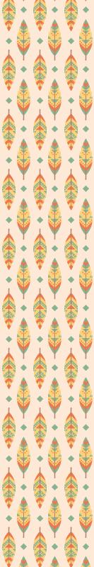 TENSTICKERS. マルチカラー羽ヴィンテージ壁紙レトロ壁紙. あなたが飾りたいあなたの家のどこにでも適用できる多色羽ヴィンテージのイラスト付きのビンテージ壁紙。