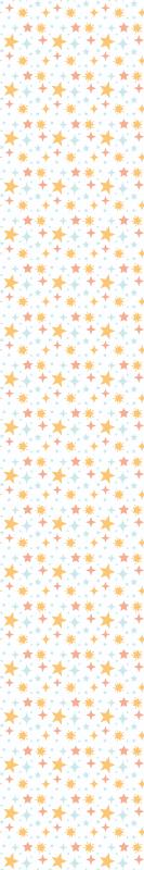 TenVinilo. Papel pared estrellas naranjas. Papel pared estrellas multicolores ideal para la habitación de un bebé con este diseño original y bonito ¡Envío exprés a domicilio!